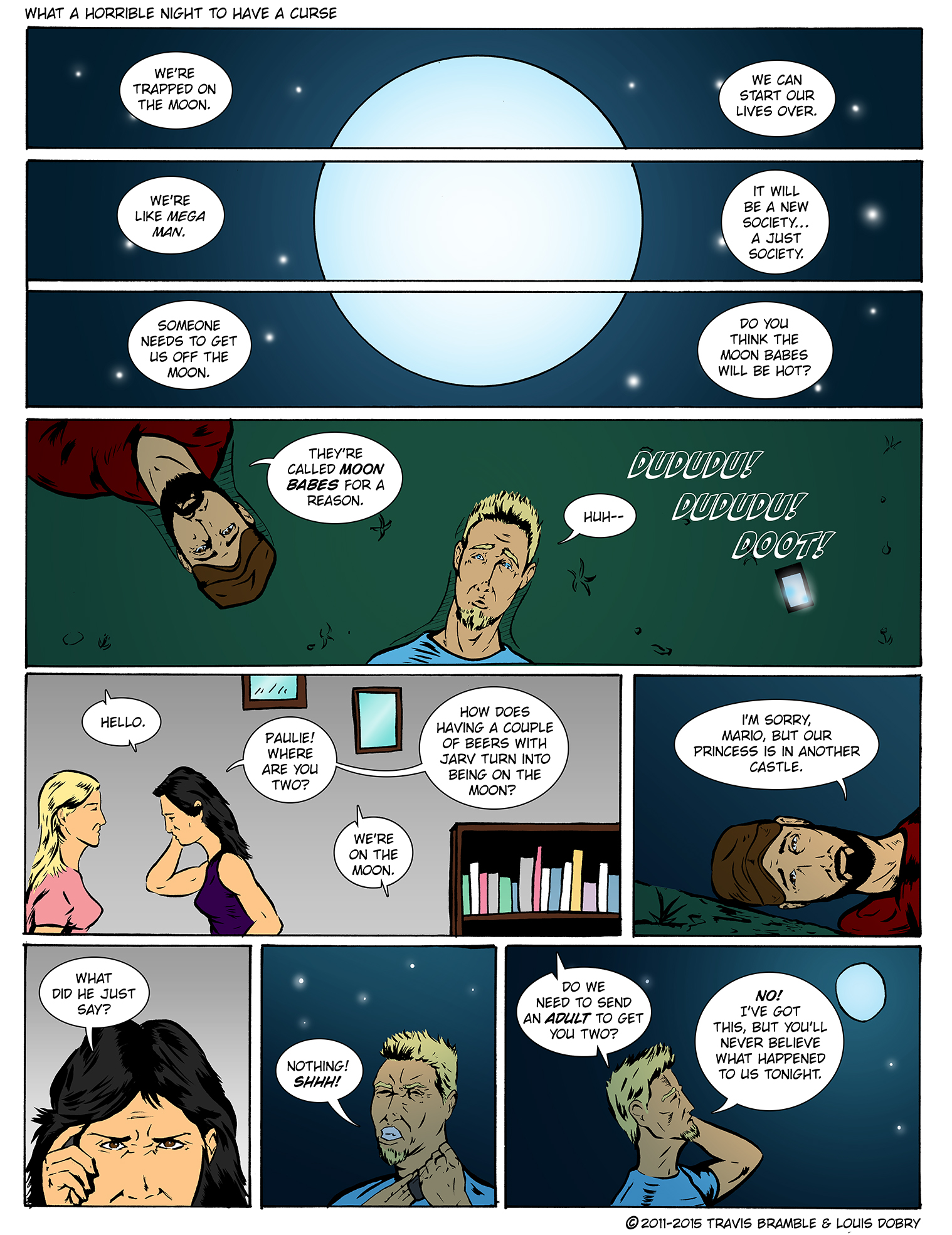 What A Horrible Night To Have A Curse pg.1